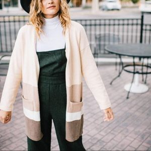 NWT Colorblock Open Cardigan